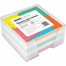Блок д/записи 9*9*5 цветной в подставке